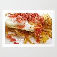 Bacon & Egg Breakfast Art Print