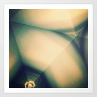 Abstractions in Cyan Art Print
