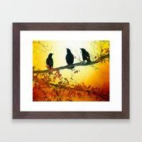 Autumn Sun Framed Art Print