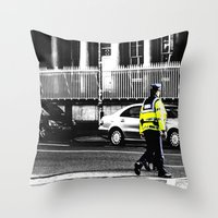 Beat on the Street Throw Pillow