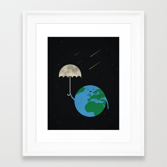 Moonbrella Framed Art Print