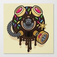 Donut Gas Mask Canvas Print