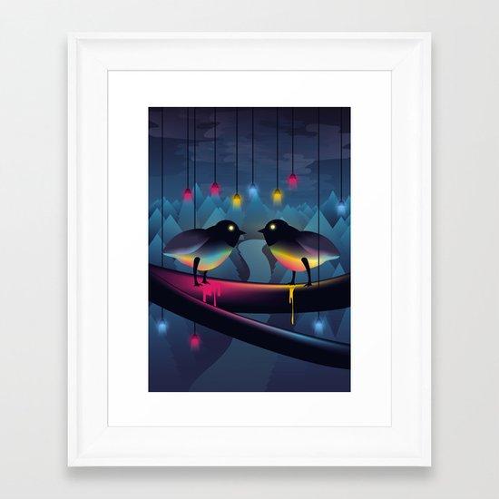 Disco Love Framed Art Print