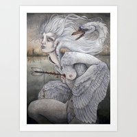 The Swan Maiden Art Print
