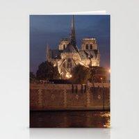 Paris By Night: Notre Da… Stationery Cards