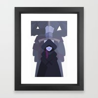 Lady Stark & the Oathkeeper Framed Art Print
