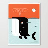 Time the dark whale Canvas Print