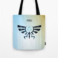 The Legend of Zelda - Hyrule Rising Poster Tote Bag