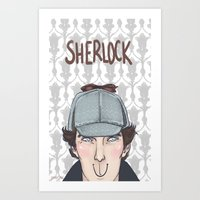 sherlock Art Prints featuring Sherlock by enerjax