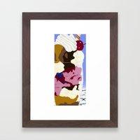 Parfait Card Framed Art Print