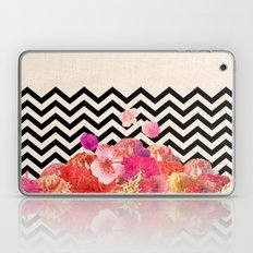 Chevron Flora II Laptop & iPad Skin