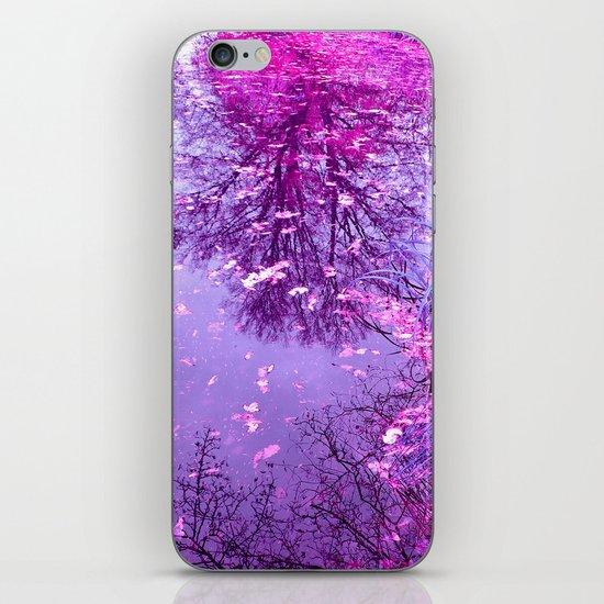 purple garden pond II iPhone & iPod Skin