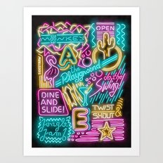 Neon Playground Art Print