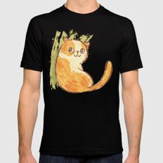 Cat SMALL Mens Fitted Tee Black