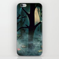 The Woods at Night iPhone & iPod Skin