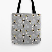 Bubble Bees Tote Bag