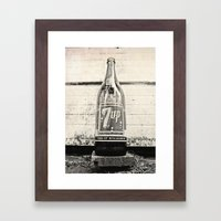 Old Seven-Up Bottle Framed Art Print