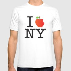 The Big Apple SMALL White Mens Fitted Tee