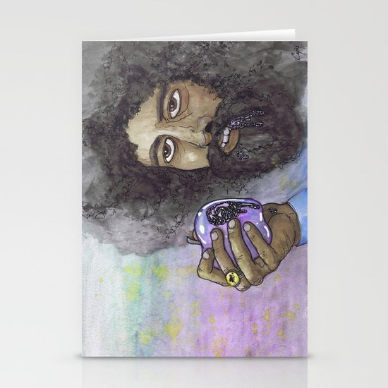 """Reggie Watts"" by Cap Blackard Stationery Card"