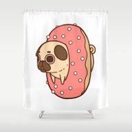 Puglie Doughnut Shower Curtain