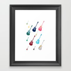 Guitars Framed Art Print