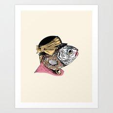 Mrs. Fish Art Print