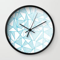 Abstraction Lines Waterc… Wall Clock