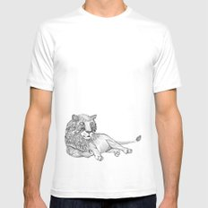 The King White SMALL Mens Fitted Tee