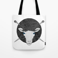 Woollen Head (Sheep & Cross Needles) Tote Bag