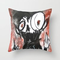 Fits of Anger Throw Pillow