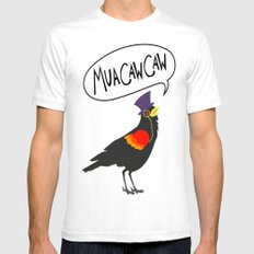 MuaCawCaw SMALL Mens Fitted Tee White