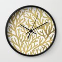 Gold Coral Wall Clock