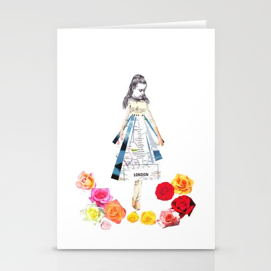 Lost by some roses Stationery Card
