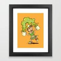 Green Tea Latteh Tarik Framed Art Print