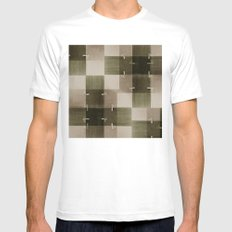 random pattern SMALL White Mens Fitted Tee
