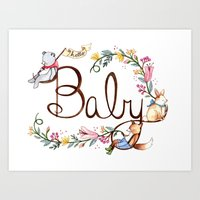 Hello Baby Art Print