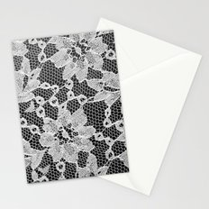 black and white laced Stationery Cards