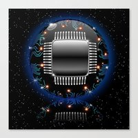 Electronic Motherboard C… Canvas Print