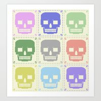quilt of grrr (born to die). Art Print