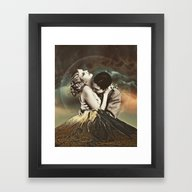 Framed Art Print featuring Like A Volcano by TRASH RIOT