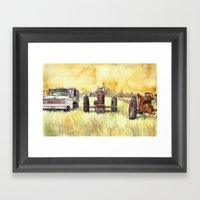 Retirees Framed Art Print