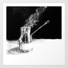Arabic Coffee Art Print