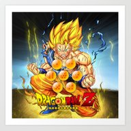 Goku Ball Z Design Art Print