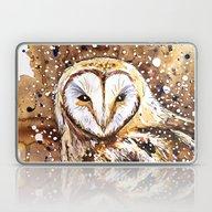 Winter's Owl Laptop & iPad Skin