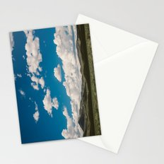 Puffy White Clouds with Blue Sky and Green Meadow Hills Stationery Cards