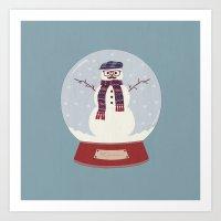 Let it snow, man! Art Print