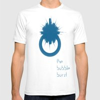 THE BUBBLE BURST Mens Fitted Tee White SMALL