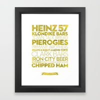 Pittsburgh — Delicious… Framed Art Print