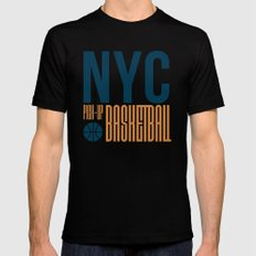 N.Y.C. Pick-Up Basketball Mens Fitted Tee SMALL Black