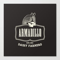 Armadillo Dairy Farmers - Fantasy Vintage Logo Canvas Print